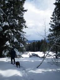 rich snowshoeing