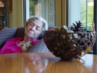 mom sleeping