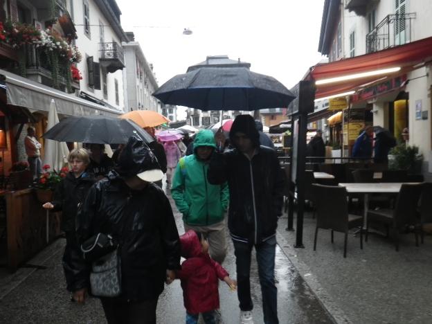 rain in chamonix