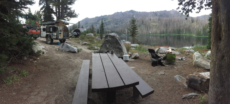 Trinity Lake camp site 8