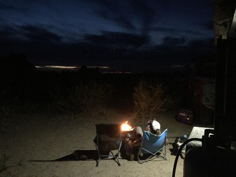 Lava Tubes campsite firepit