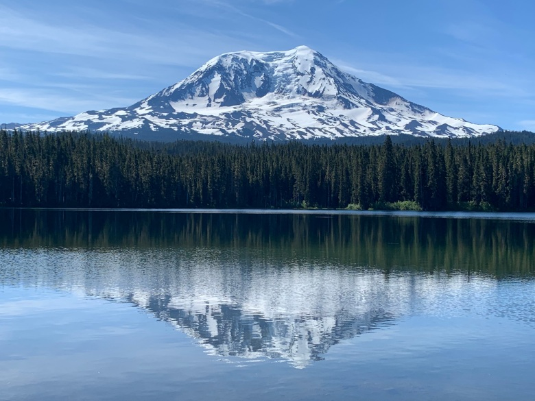 Mt Adams from Takhlakh Lake